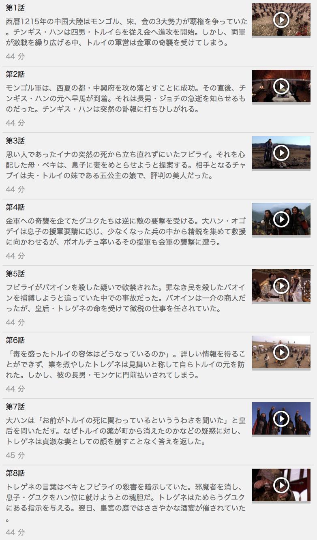 【フビライ・ハン】の動画を全話見る方法は「U-NEXT(ユーネクスト)の31日間無料視聴」を活用することで解決!