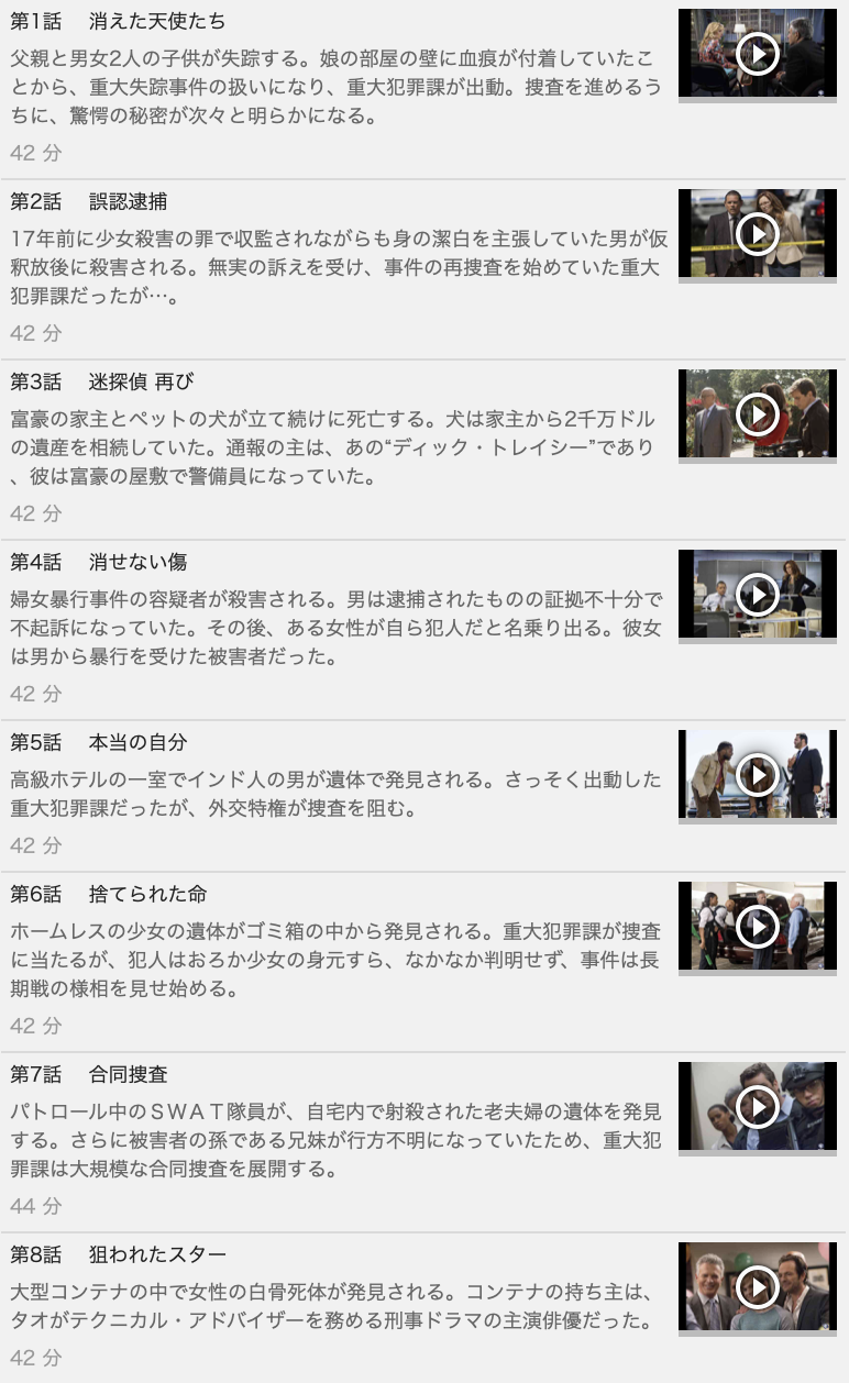 【MAJOR CRIMES<メジャークライムス>~重大犯罪課 シーズン3】の動画を全話見る方法は「U-NEXT(ユーネクスト)の31日間無料視聴」を活用することで解決!