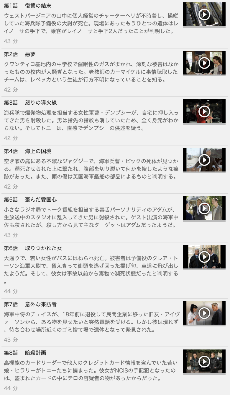 【NCIS~ネイビー犯罪捜査班 シーズン8】の動画を全話見る方法は「U-NEXT(ユーネクスト)の31日間無料視聴」を活用することで解決!