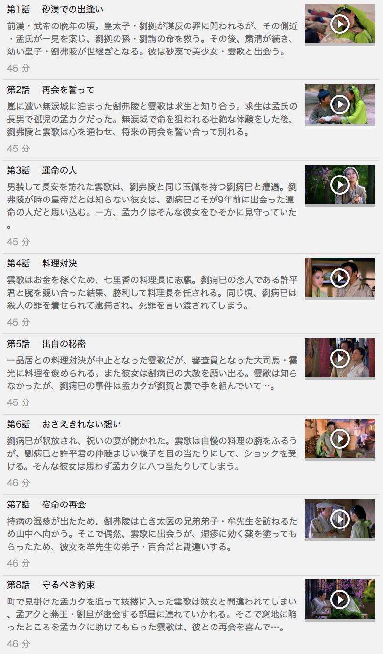 【雲中歌<うんちゅうか>~愛を奏でる~】の動画を全話見る方法は「U-NEXT(ユーネクスト)の31日間無料視聴」を活用することで解決!