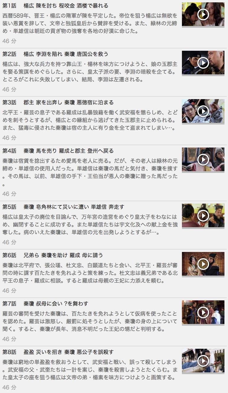 【隋唐演義<ずいとうえんぎ>~集いし46人の英雄と滅びゆく帝国~】の動画を全話見る方法は「U-NEXT(ユーネクスト)の31日間無料視聴」を活用することで解決!