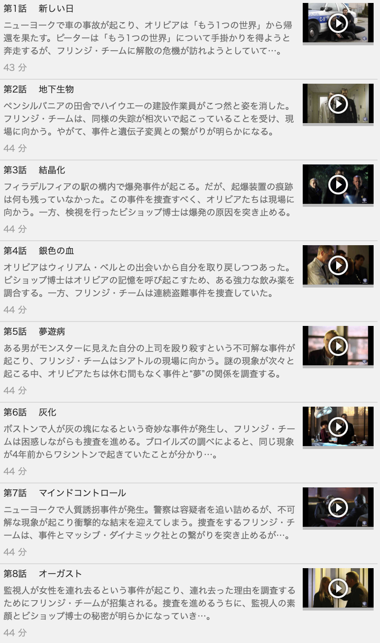【FRINGE<フリンジ>シーズン2】の動画を全話見る方法は「U-NEXT(ユーネクスト)の31日間無料視聴」を活用することで解決!