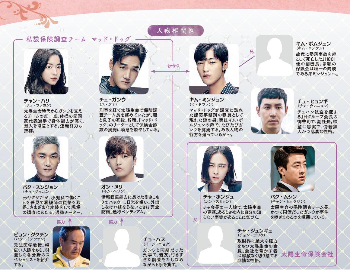 韓国ドラマ【マッド・ドッグ~失われた愛を求めて~】の人物相関図
