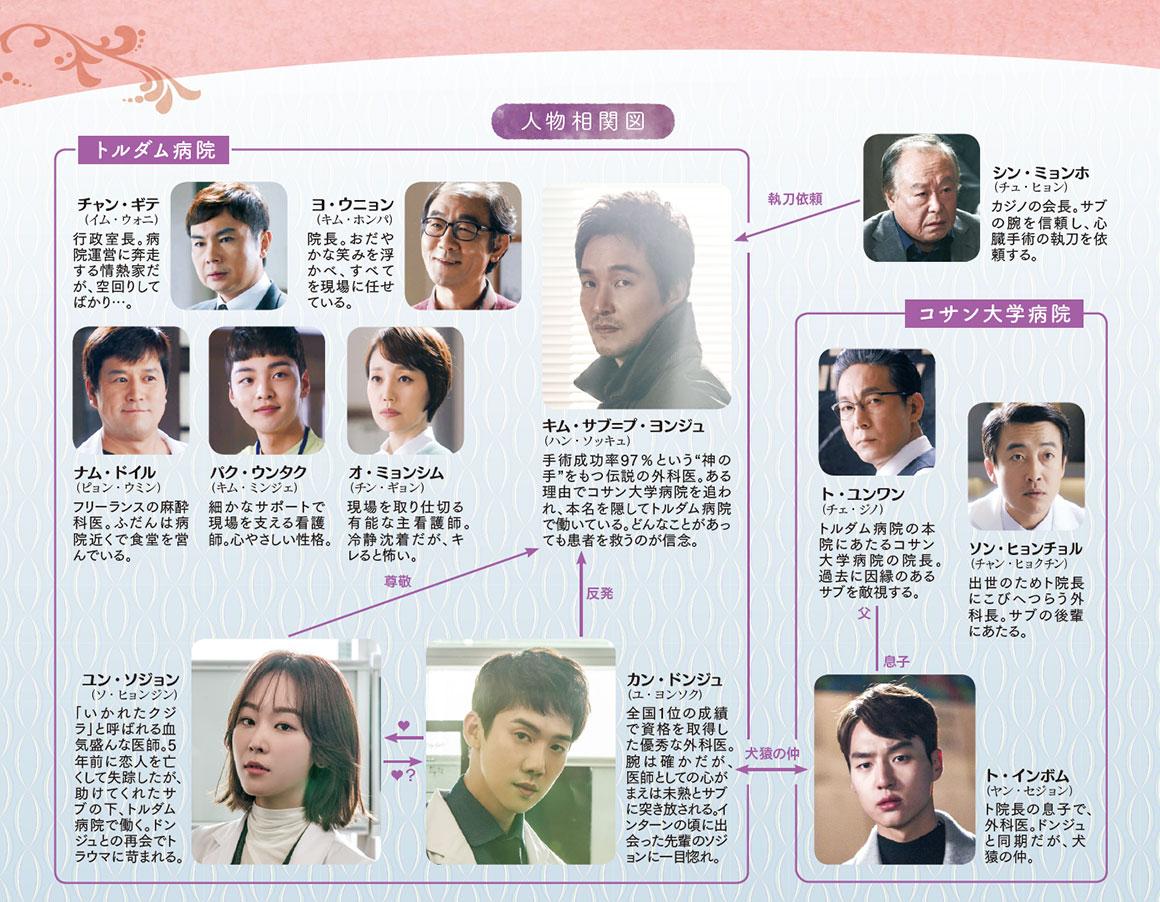 韓国ドラマ【浪漫ドクター キム・サブ】の人物相関図