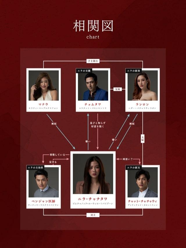 タイドラマ【ニラの復讐〜美貌に隠された秘密〜】の人物相関図